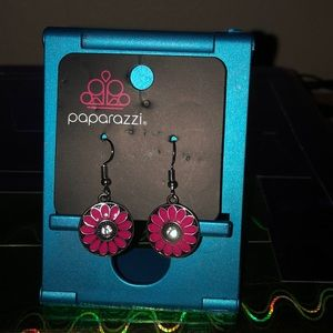 A small pair of earrings pink